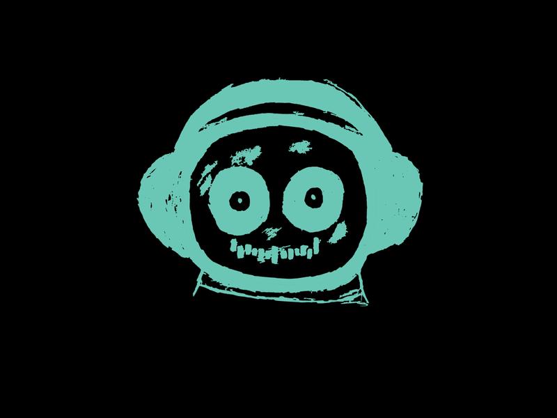 a music man edm electronic music design t-shirt illustration spaceman headphones music space