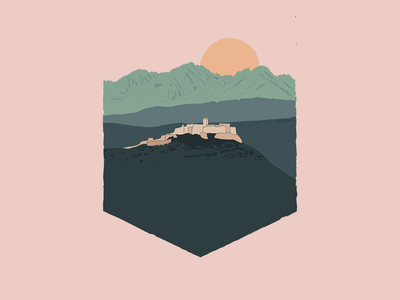 Castle Nature Illustration