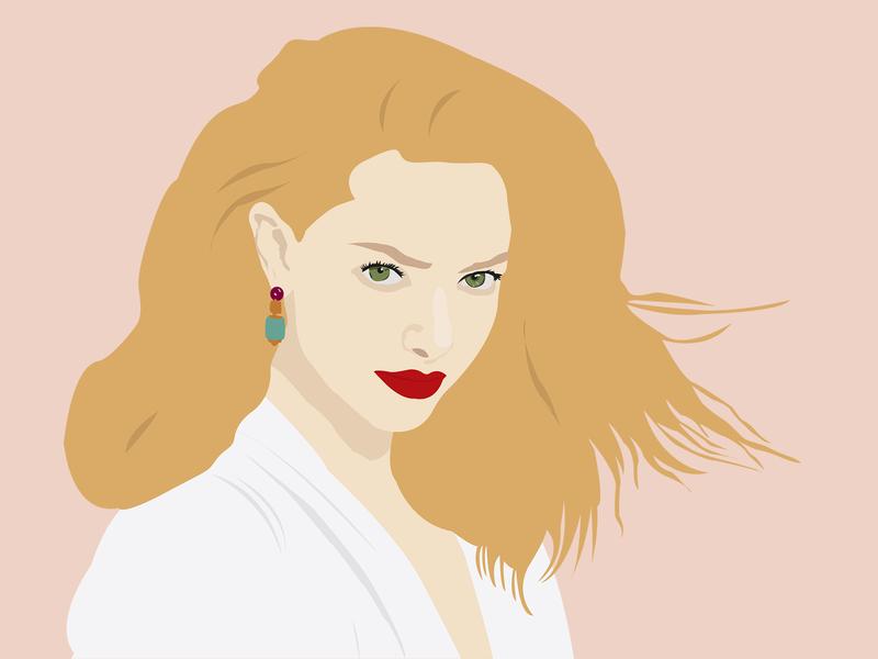 Amanda Seyfried - a portrait illustration character vector actress design portrait illustration portraits portrait art portrait illustration