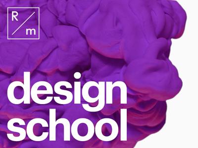 R/m Design School layout grids color typography education design