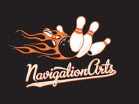 Navigation Arts Team Logo Bowling