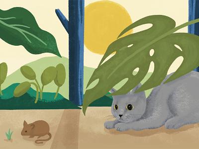 A Cat's Imagination illustration cartoon design