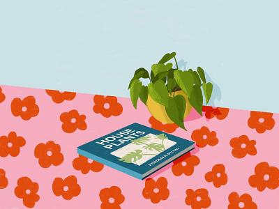 House Plants design cartoon illustration book flourishing home decor house plants