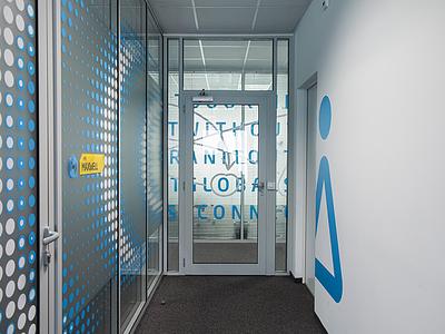 MODIS Headquarters sofia wayfinding environmental graphics signage adecco hp modis