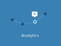 Analytics chart line chart line email footer analyze analytics