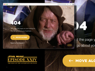 Alternate 404 Error Page - Daily UI 008 daily ui daily ui 008 obi wan star wars 404 error web design droids visual uiux ui simple minimalistic