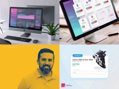 My 2018 Top Shots iphone landing page interaction design portfolio gradients studio invision studio sketch3 uxd web design simple ux ui design clean minimalistic visual design uiux