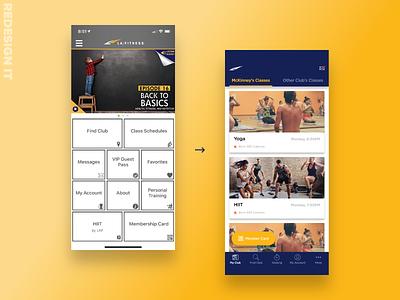 Redesign It 001 | LA Fitness redesign it invisionstudio studio invision studio iphone ux ui design clean visual design uiux