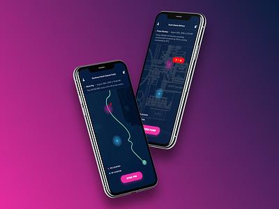 Throwback Design | Pig Locator from 2018 2018 pig locator tbt pig oil and gas design app design visual design ui design clean minimalistic