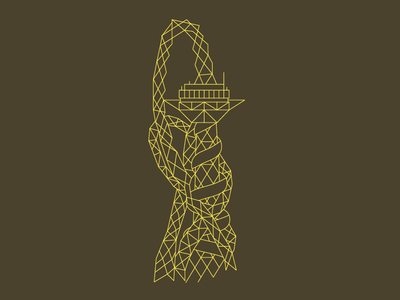ArcelorMittal Orbit orbit building architecture blueprint illustrator vector london line illustration city