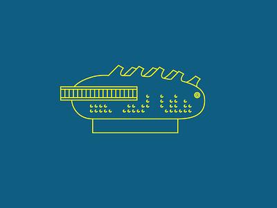 Kunsthaus — Graz, Austria design kunsthaus austria graz yellow blue illustrator drawing vector line architecture