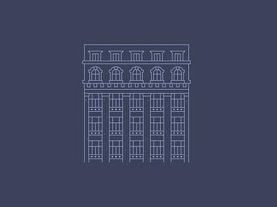 Pristine Paris architecture flat line vector city flaticon illustrator illustration logo icon paris