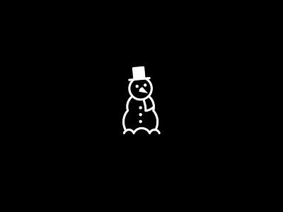 Snowman – Merry Christmas Design illustrator illustration blackandwhite logo flat vector icon christmas snowman