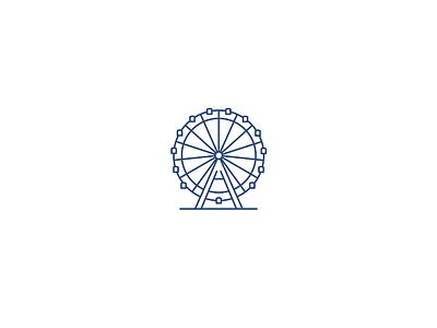 Vienna Icon ferris wheel riesenrad vector wien city flat illustrator icon vienna