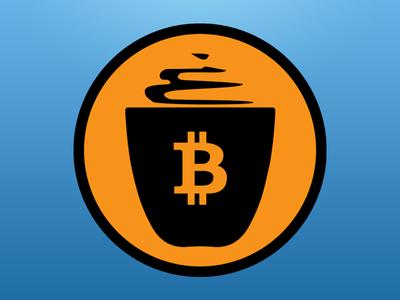 Café Bitcoin (isotipo) cafe coffee café bitcoin bitcoin cup mug coin orange