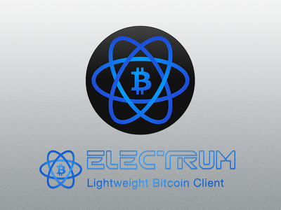 Electrum, Lightweight Bitcoin Client (Wallet) electrum bitcoin icon atom blue