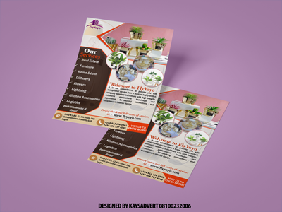 Business flyer and handbill typography graphic design design