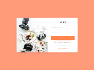 Login Details form card ux ui in sign login