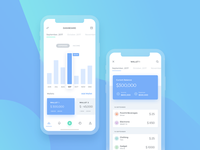 Bucks UI Kit finance financial bar chart dashboard graph statistics wallet money bank cash budget