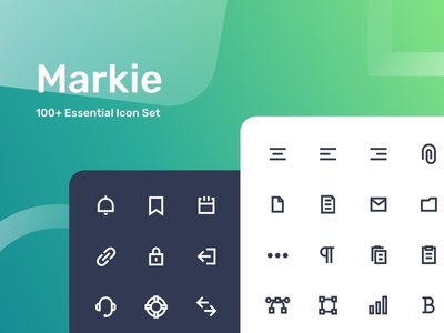 Markie 100+ Essential Icon Set web product ux ui simple line icon set outline icon
