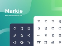 Markie 100+ Essential Icon Set