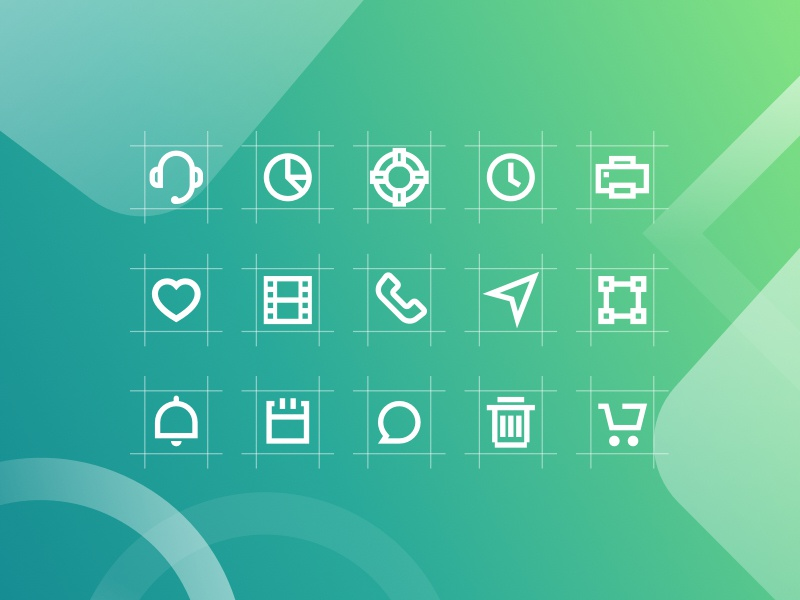 Markie 24px Grid Icon Set simple icon mark ux ui