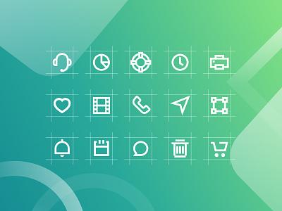 Markie 24px Grid Icon Set simple icon mark ux ui