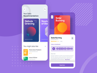 Audiobook Interaction for Odibook music podcast blog text article book audiobook audio mobile ux ui