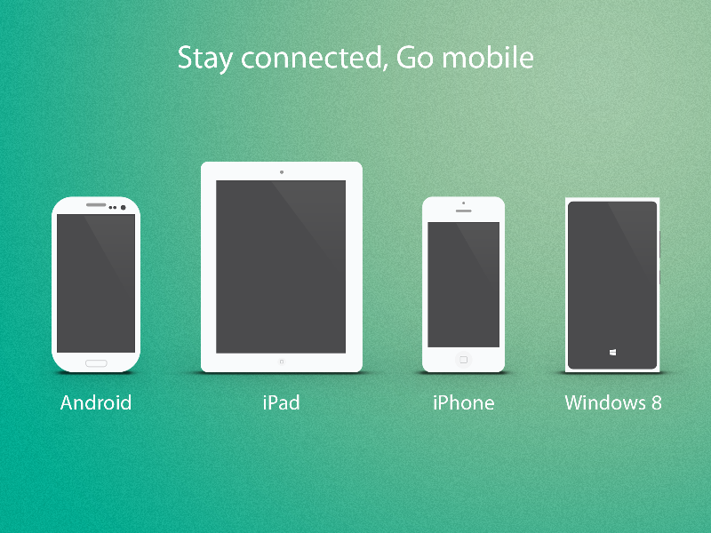 Multiple Devices freebies multiple devices device mobile clean simple icon psd