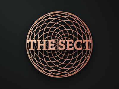 the sect figma brass copper the sect minimal circle art logo brand illustration graphic branding design brand identity