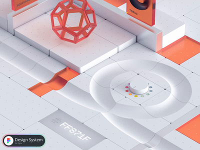 Components — colors ux figma brand identity brand graphic design ui motion graphics animation design system design-system 3d colors colours loop stairs ball box
