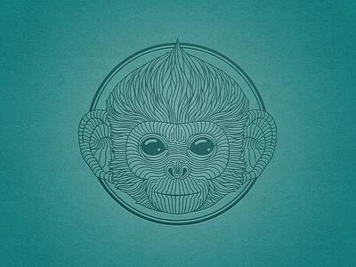 Langur monkey logo graphic circle circle logo langur monkey
