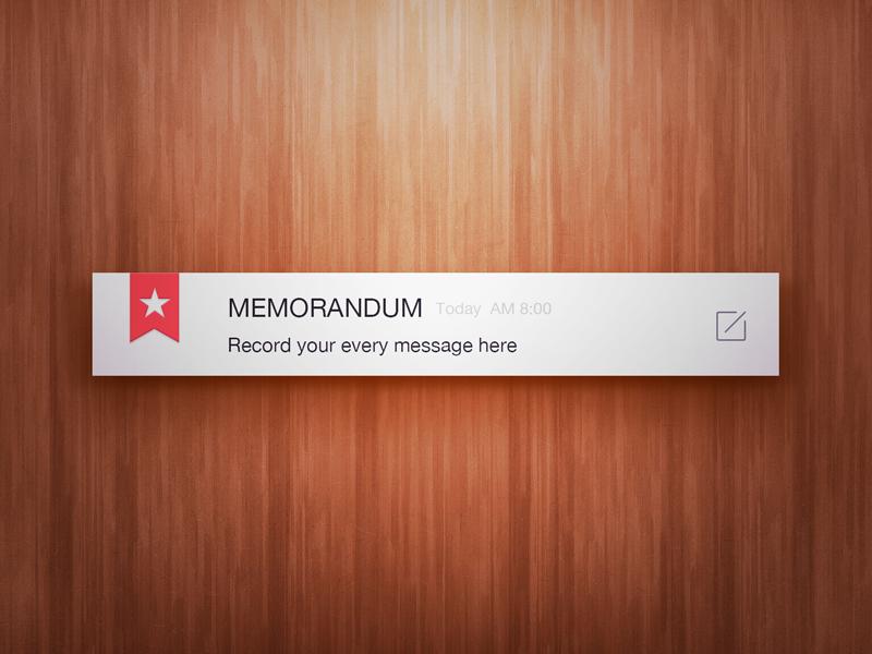 Memorandum notes wood minimal memorandum ui