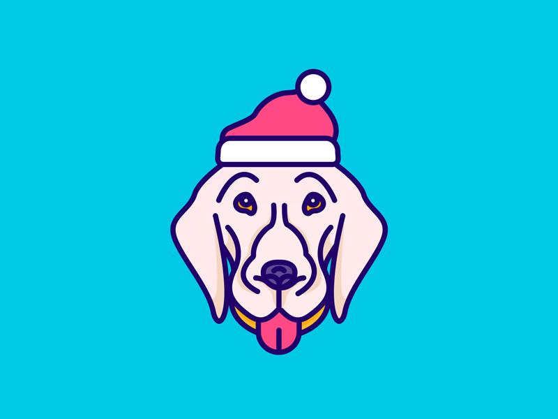 merry christmas color retriever golden hat christmas merry dog ui