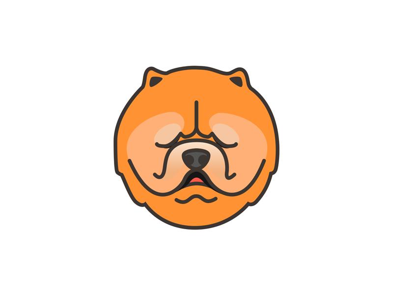Chow chow drawing dog ui