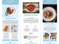 Sasha Fine Foods' E-mail Marketing Templates