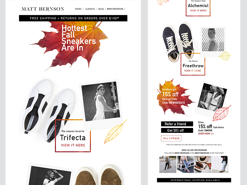 Fall e-mail campaign marketing mailchimp email season autumn fall