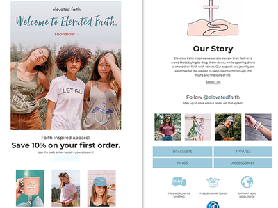 Elevated Faith template e-mail email design marketing newsletter klaviyo