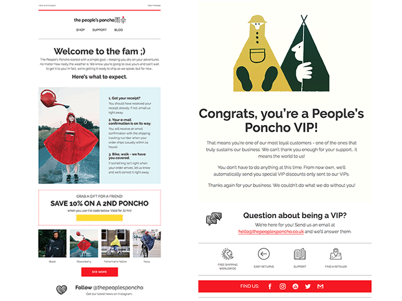 People's Poncho marketing e-mail template newsletter email klaviyo