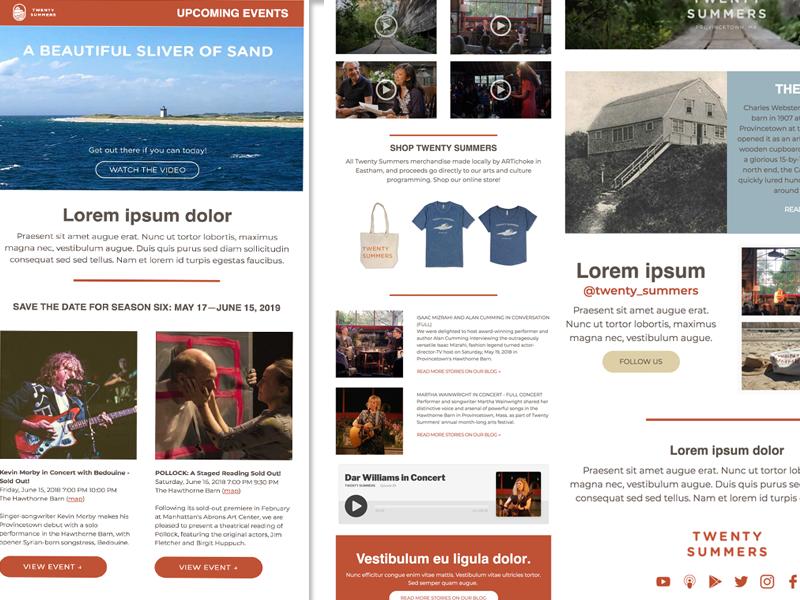 Twenty Summers template responsive newsletter email mailchimp