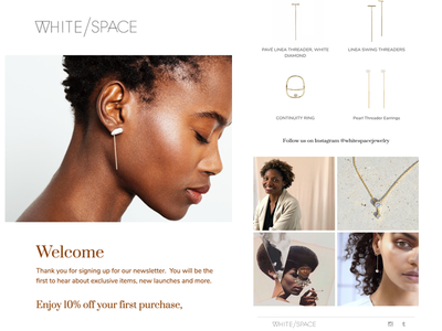White/Space design template klaviyo e-mail marketing responsive mailchimp newsletter email