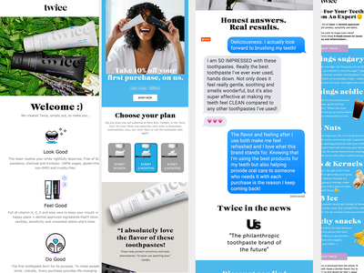 Twice design template e-mail klaviyo responsive marketing newsletter mailchimp email
