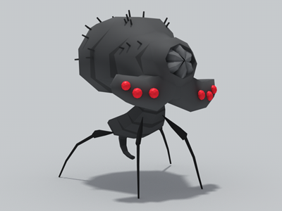 Spidery 3d low-poly low-polygon critter insect spider monster creature