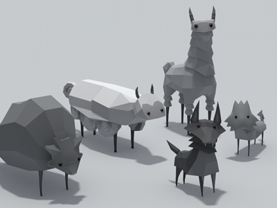 Mobs! low-poly 3d wip creatures animals fauna