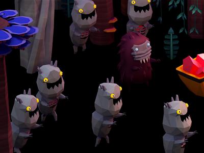 Raaaawwwwwwwrrrrr! 3d low-poly creature monster mobs invasion