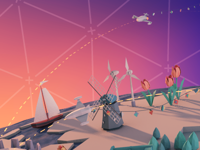 Conference H 3d low-poly the netherlands holland meeting festive