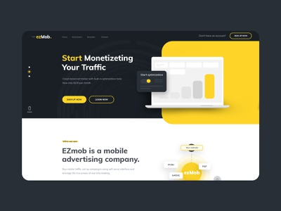 Mobile advertising onepage dashboard onepage landing page themeforest ui  ux webdesign creative  design color dexim ecommerce