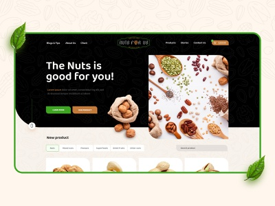 Almond Oil Nuts Ecommerce Web Design onepager deximlabs wordpress design wordpress theme wordpress webdesign themeforest design dexim ecommerce