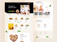 🥜 Almond Oil Nuts Ecommerce Web Design wordpress theme magento theme wordpress ui designer deximlabs ui design design ecommerce