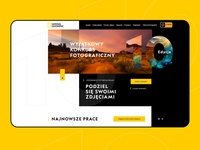 Official website National Geographic channel polish designer yellow color website polish photo contest wordpress onepage landingpage dexim